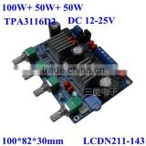2.1 Channel Amplifier PCB Circuit Board ,Original TPA3116D2 100W+50W+50W Audio Amplifier Module ,Top Sale!!!