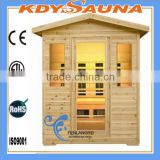 outdoor sauna room for 5-6 person outdoor far infrared corner sauna steam room with carbon beater
