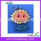 sunflower usb flash drive bulk cheap cartoon pvc usb pendrives 1gb to 64gb