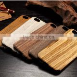 Natural Genuine Cherry wood TPU cell phone cases for iphone Hard Back bamboo wooden cover case with tpu phone shell