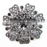 Noble Fashion Gun Black Crystal Rhinestone Brooch Bouquet for wedding women pins