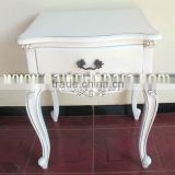 Antique White Bedside Table - White Painted Racoco Funiture - French Italian Classic Furniture