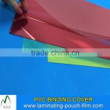 Red Color Clear A4 Size Booking Advertising Binder Cover PVC Book Binding Cover 0.1-0.6MM Thickness Book Cover