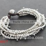 Jewelry handmade silver jingle bell bracelet for men                                                                         Quality Choice