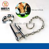 China suppliers veterinary instrument cattle chain nose pincer stainless steel cattle bull holder plier for sale