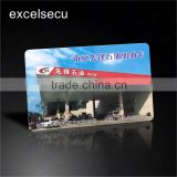 ESECU High resistance PVC/Plastic self service contactless IC gasoline smart card with custom logo