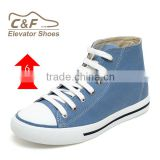 hotselling fashion sneekers height increasing canvas shoes