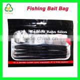 Customized Resealable soft Plastic Fishing Bait Lures Packaging Bags With Clear Window