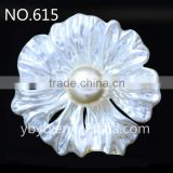 resin flower artificial plastic flower pearl embellished jewelry accessories girl dress patterns in bulk-615