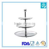 High quality 3 tier stainless steel cupcake stand