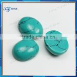 8x10mm popular persian turquoise oval shape gemstone cabochons green kawaii cabochons wholesale