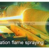 detonation flame spraying to repair mechanical parts