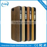 Amazon Hot Sale Genuine Bamboo Wood+PC Back Cover Case for iPhone 6/6s Plus Mobile Phone Protector