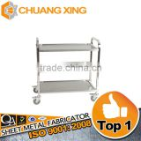 High quality customized 3-tier stainless steel meat trolley