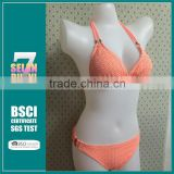 Hot Sale Cheap Removable CUP Swimwear Crochet Bikini With Top quality