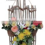 Hand Made Decorative rattan woven baskets, wall hanging basket series Plant Artificial Flower Vine for Home Garden Wall and Wedd