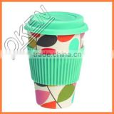 Disposable bamboo fiber cup coffee cup trendy printing logo