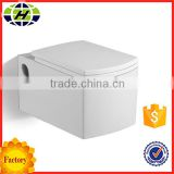 China manufacturer ceramic wall hung prefab toilet bathroom