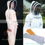 cotton fencing beekeeping suits/clothing full body/jecket/glove
