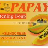 Papaya Skin Whitening Soap plus Sunscreen w/ Vitamin A, C & E - 135 grams