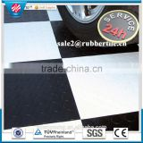 Anti-Abrasive coin pattern Colorful commercial hospital rubber floor, garage rubber tile
