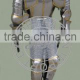 Decorative Medieval Armour Suit with Chainmail, Medieval Full Body Armor, Knight Armour Suit