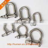 2017 Silver Color Stainless Steel D Shackle With 3 Holes Adjuster for Survival Bracelets