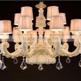 ZG202 Momoda luxury decorations French style ceramic Cream white living room bedroom villa big lighting chandelier pendant lamp