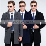 MSW0043 Wholesale brand Mens 2016 new winter men's Wool Fashion windbreaker suit collar long coat.