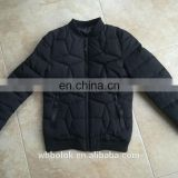OEM Custom logo mens polyester quilted warm winter jacket bomber polyester quilted thick man blazer