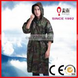 adult man waterproof camouflage rain cape