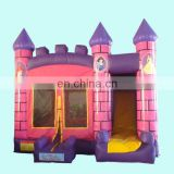 Amazing Inflatable pinky princess castle combo