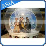 Customized Inflatable Clear Snow Globe For Wedding/Exhibition/Christmas