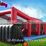 inflatable wipeout chanllenge sport game adult inflatable obstacle