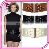 promotional fashion trendy women cloth accessories elastic belt strap extra wide corset belt with stones