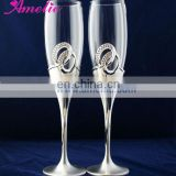 A8122 Wholesale Glass Ring Decorative Champagne Flutes