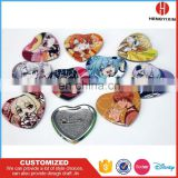 Custom Printing Logo Promotional Gift Cheap Metal Pin Badge Heart Shape Tin Button Badge
