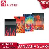 Hot selling factory price MOQ 10 caribbean flags bandana