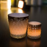 New Design 2pcs Cray Candle Holder Set Glass Candle Holder