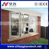 Lower price size customized waterproof aluminum bifold philippines glass window