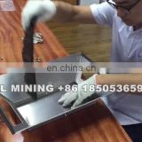 Gold panning equipment portable gold flow pan
