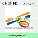 Promotional Unique Wrist Silicon USB Bracelet with Customize Logo from China manufacturer