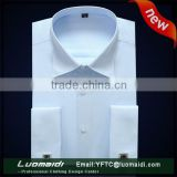 Special offer!!!french cuff dress shirt blue/wholesale shirt in bulk/official men shirt dress