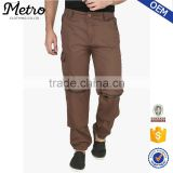 Cargo Custom Ovesize Baggy Brown Solid Jogger Pants