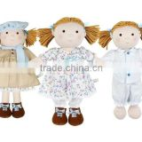 "Adorable Cloth Rag Doll 10"" /Stuffed Toy Doll Wearing Skirt/Plush Comfy Doll Baby Toy"