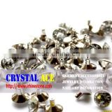 Open end and close end rhinestone rivet strass, Press strass rivet for belts