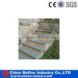 blue limestone stone steps for outdoor stairs