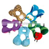 Plush animal shaped cushion travel baby neck pillow