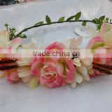 Newest Design Women Girls Artificial Flower Headband Tiara Crowns Garland Wedding For Adults