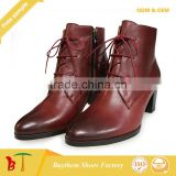 2015 newest style women ankle boot lower heel for women comfortable beautiful women boot